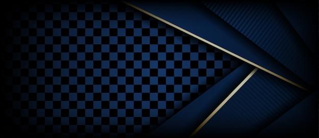 Abstrait luxueux fond de couche de chevauchement polygonal bleu foncé
