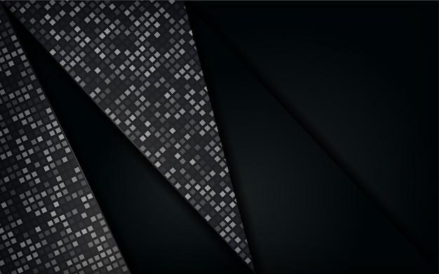 Abstrait luxueux noir blanc premium avec des lignes dorées. superposez la conception de la couche texturée.