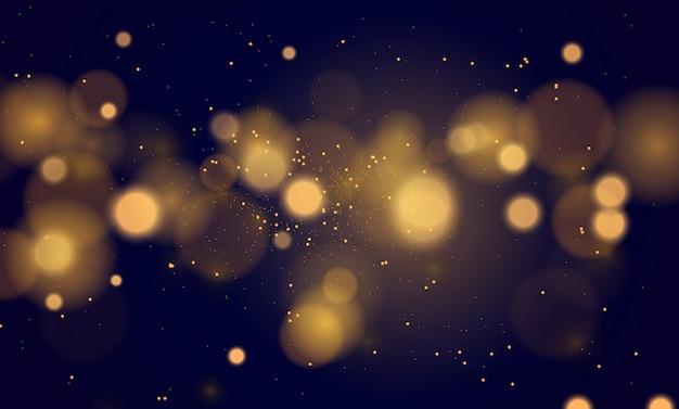 Abstrait magique avec effet de lumières bokeh