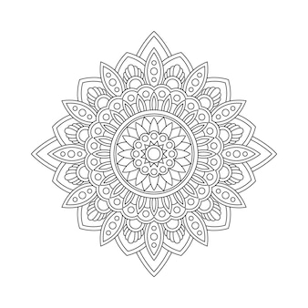 Abstrait mandala arabesque illustration de livre page à colorier. t-shirt . fond d'écran floral