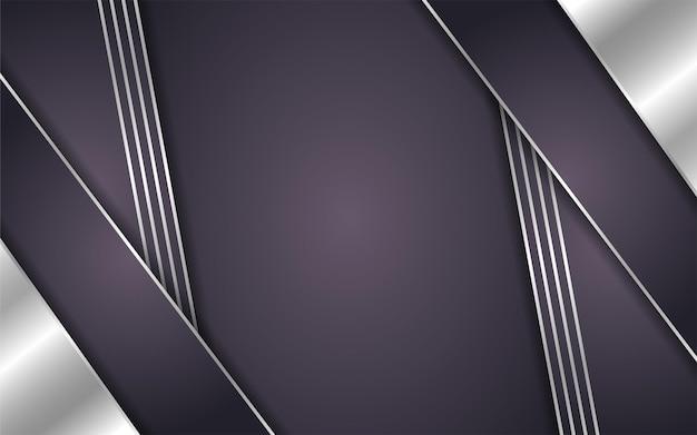 Abstrait Marron Avec Ligne Argent Vecteur Premium