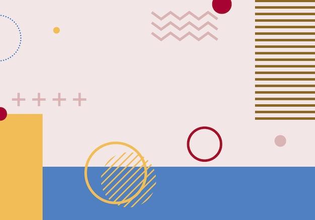 Abstrait de memphis. illustration vectorielle. abstrait.