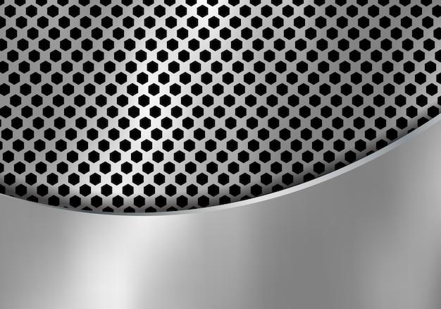 Abstrait en métal argenté