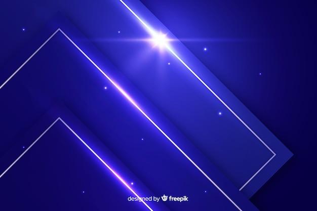 Abstrait métallique bleu futuriste