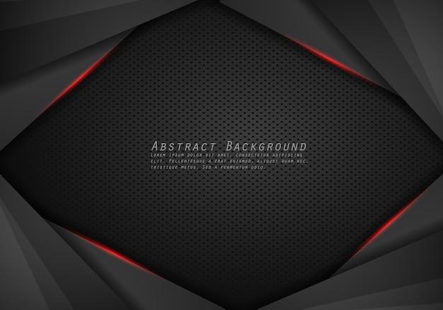 Abstrait métallique moderne rouge noir cadre design innovation concept mise en page arrière-plan.