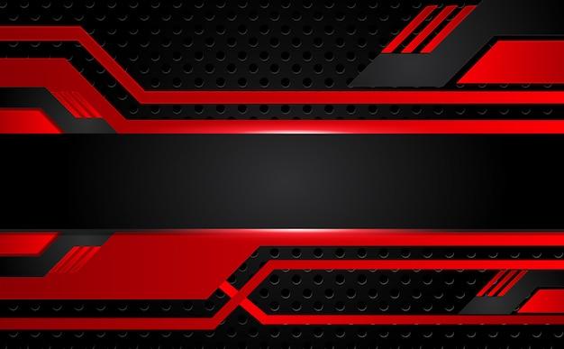 Abstrait métallique rouge cadre noir mise en page design tech innovation concept fond