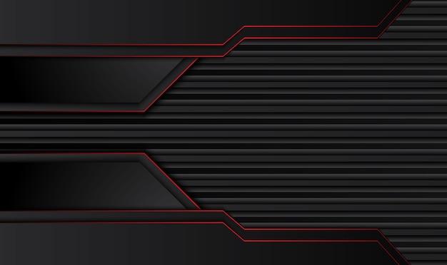Abstrait métallique rouge cadre noir mise en page design technologie innovation concept fond.