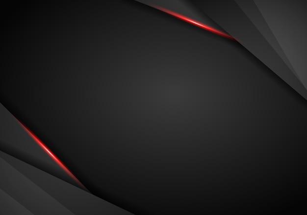 Abstrait métallique rouge cadre noir mise en page moderne