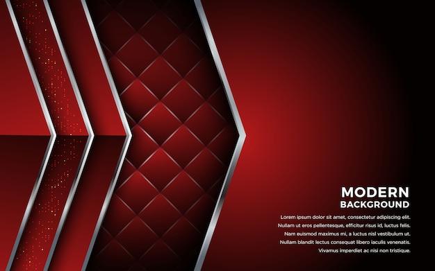 Abstrait métallique rouge avec des lignes géométriques