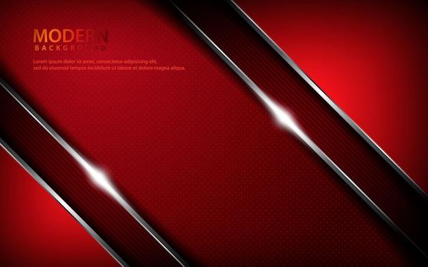 Abstrait métallique rouge