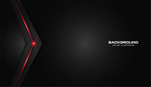 Abstrait métallisé rouge brillant couleur cadre noir mise en page moderne tech