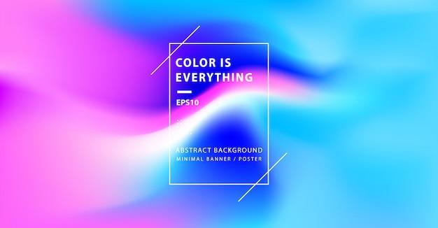 Abstrait minimal coloré