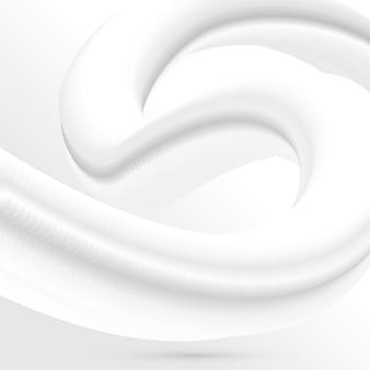 Abstrait minimal avec un design de mélange fluide blanc