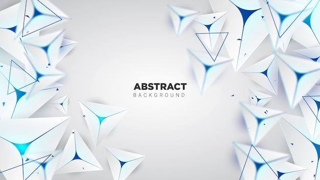 Abstrait minimal avec une forme de triangle