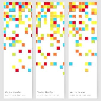 Abstrait modèle bannière verticale
