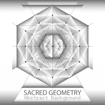 Abstrait modèle de brochure avec sacrée dessin géométrique