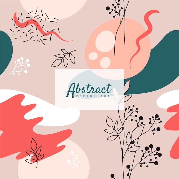 Abstrait. modèle de conception moderne dans un style minimal. couverture élégante pour la présentation de la beauté, la conception de la marque. illustration vectorielle