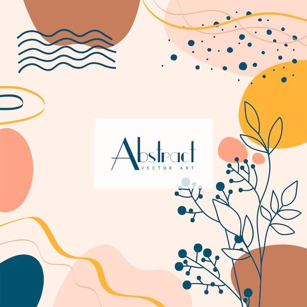 Abstrait. modèle de conception moderne dans un style minimal.
