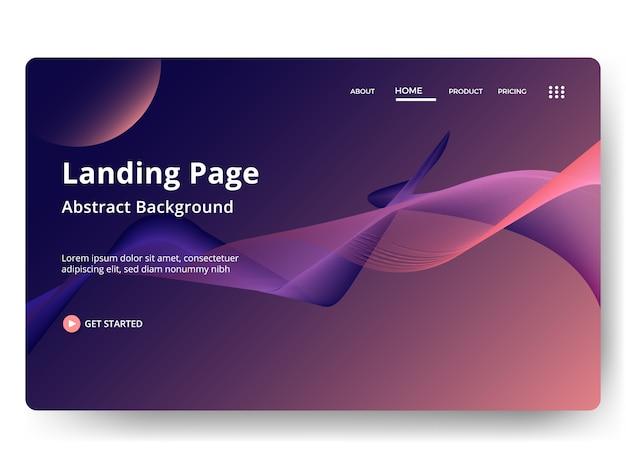 Abstrait modèle de page de destination. page web pour site web et développement mobile.