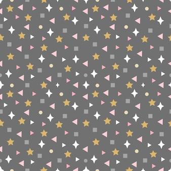 Abstrait modèle sans couture avec étoiles carrés et autres éléments