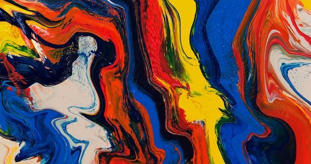 Abstrait moderne. art fluide. texture de marbre liquide. les peintures acryliques versent la conception vectorielle. art contemporain.