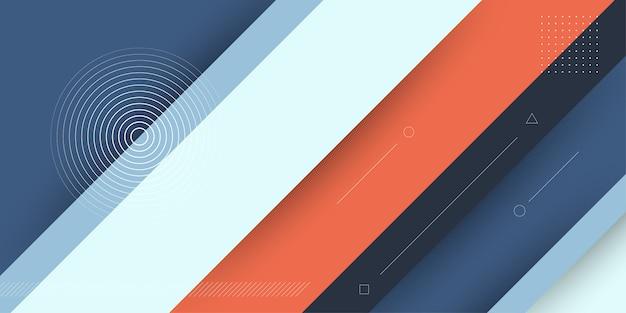 Abstrait moderne avec bande diagonale 3d ou éléments papercut et couleur pastel.