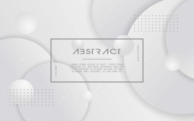 Abstrait moderne blanc et gris.