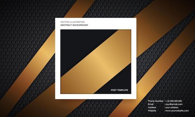 Abstrait moderne avec concept de couleur de luxe de modèle de poste