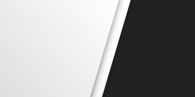 Abstrait moderne couleurs blanc et noir