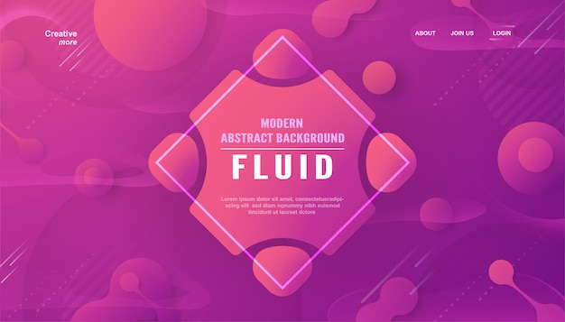 Abstrait moderne dans un style liquide et fluide.