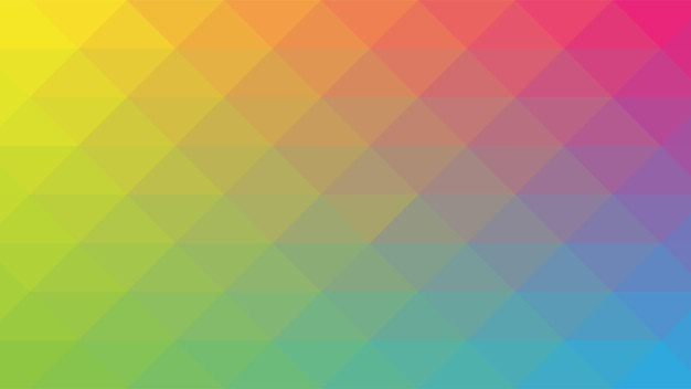 Abstrait moderne avec dégradé de couleur arc-en-ciel vibrant et élément de mosaïque lowpoly