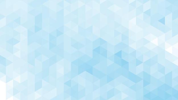 Abstrait moderne avec dégradé de couleur bleu doux et élément lowpoly