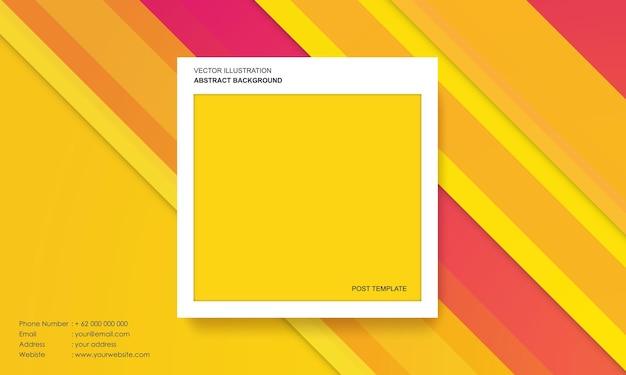 Abstrait moderne avec des dégradés colorés concept de modèle de poste