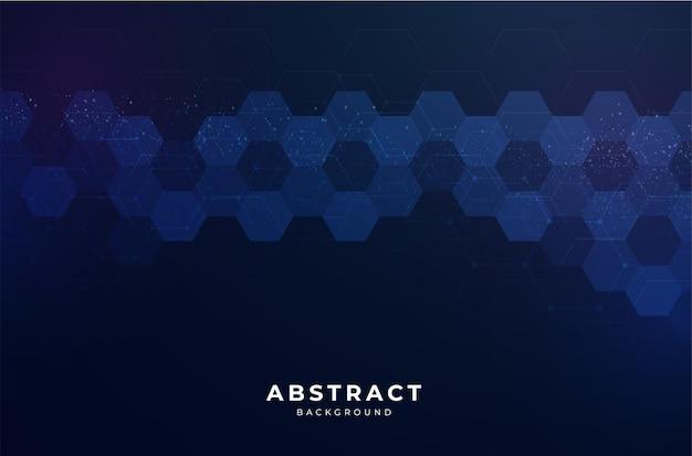 Abstrait moderne avec un design hexagonal