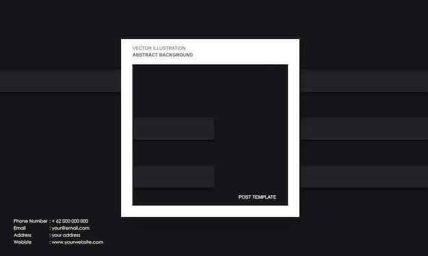 Abstrait moderne dop noir et lignes avec concept de modèle de poste
