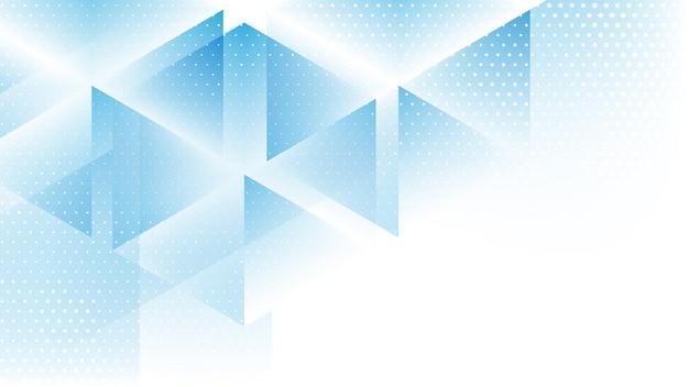 Abstrait moderne avec élément demi-teinte et couleur gadient bleu blanc lowpoly