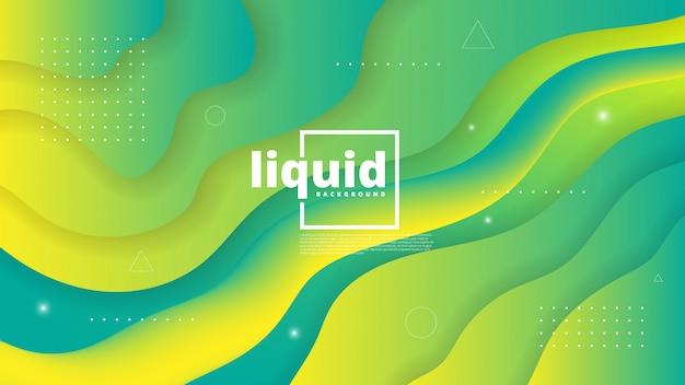 Abstrait moderne avec élément vague, liquide et liquide