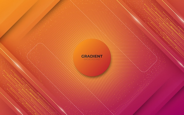 Abstrait moderne avec des éléments carrés et demi-teintes et dégradé rouge pastel coloré avec un thème de technologie numérique.