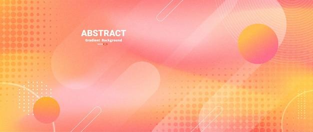 Abstrait moderne avec des formes dynamiques