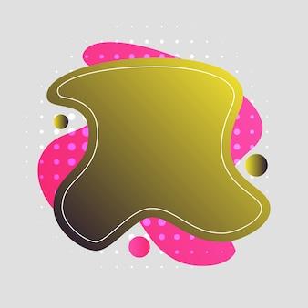 Abstrait, moderne, formes, fluides, éclaboussures, multicolore, jaune, or, rose fond d'écran fond d'écran illustration vectorielle