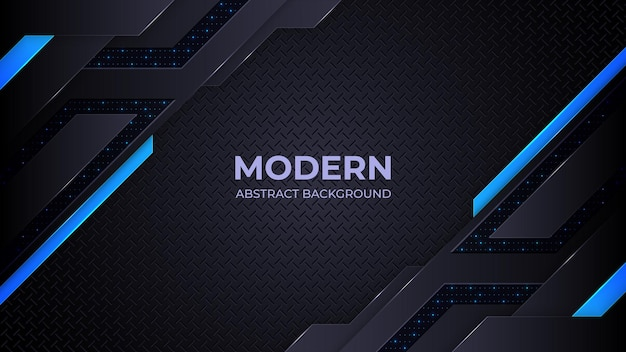 Abstrait moderne formes géométriques bleues et noires