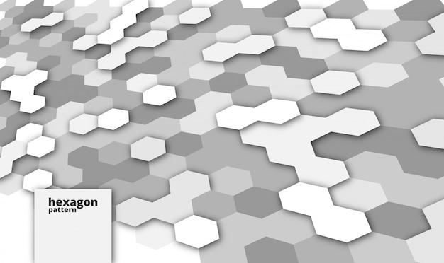 Abstrait moderne avec des formes hexagonales ou polygones