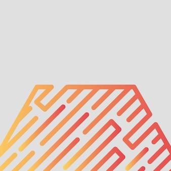 Abstrait, moderne, formes, hexagone, multicolore, jaune, rouge orange, gris dégradé fond d'écran illustration vectorielle