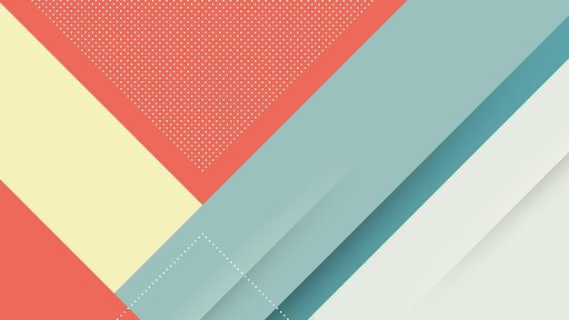 Abstrait moderne avec des lignes diagonales de memphis