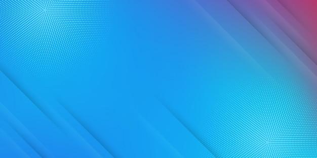 Abstrait moderne avec des lignes ou des rayures diagonales et des éléments en demi-teintes et un dégradé pastel de couleur bleue avec un thème de technologie numérique.