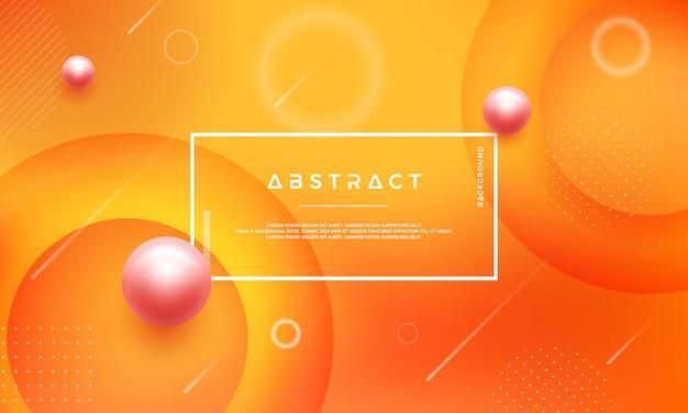 Abstrait moderne avec mélange de couleurs rouge et orange.