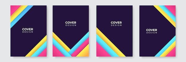 Abstrait moderne. modèle de couverture d'entreprise bleu jaune rose abstrait vectoriel. arrière-plan minimal d'affaires avec cadre de cercle de demi-teintes. fond dégradé.