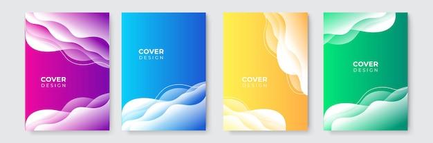 Abstrait moderne. modèle de couverture d'entreprise bleu magenta vert jaune abstrait vectoriel. arrière-plan minimal d'affaires avec cadre de cercle de demi-teintes. fond dégradé.
