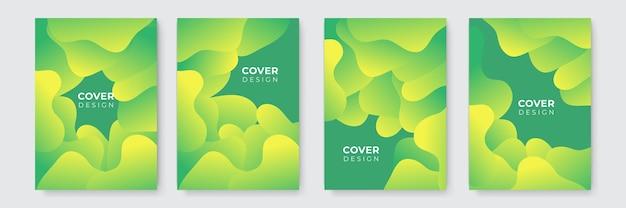 Abstrait moderne. modèle de couverture d'entreprise vecteur abstrait vert et jaune. arrière-plan minimal d'affaires avec cadre de cercle de demi-teintes. fond dégradé.