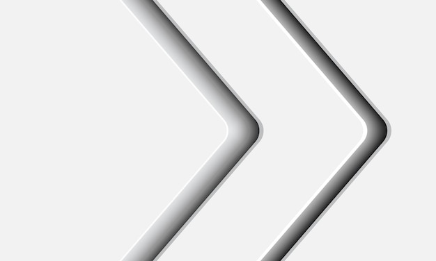 Abstrait moderne ombre flèche blanche